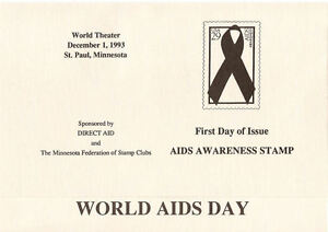 2806-FD-Program-29c-AIDS-Day-Stamp-St-Paul-w-2-FD