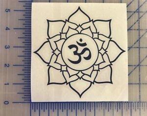 Om Lotus Flower Decal 45 5 55 Yoga Meditation Mantra Namaste