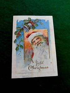 Lovely-Embossed-Victorian-Santa-Claus-Folding-Christmas-Card-Bavaria