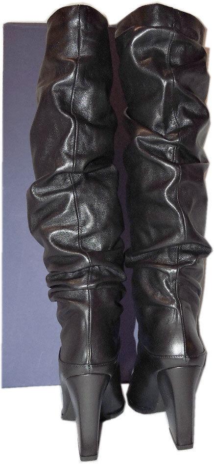 775 Stuart Weitzman Boots Smashing Nappa Leather Tall Tall Tall Knee Boots Booties 8.5 1b40ff