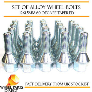 Alloy Wheel Bolts (20) 12x1.5 Nuts Tapered for Toyota Aygo [Mk2] 14-16