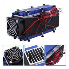 Air Cooling Device No Noise Thermoelectric Cooler 15A Semiconductor Refrigeration Peltier Kit Three-core with Power for Small Space Cooling