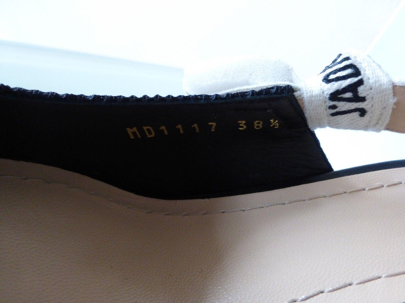 7cfb63d32ac Dior J adior Ribbon and Fabric Black Slingback Kitten HEELS Size ...