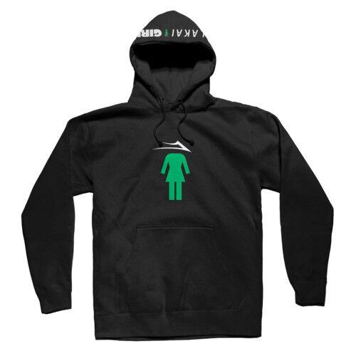 LAKAI Abbigliamento x GIRL Skateboards Uomo Nero Flare Pullover Con Cappuccio Maglione