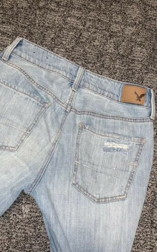 clair Tomgirl American 2 Ae Eagle taille Jeans délavé SqOSRa1c