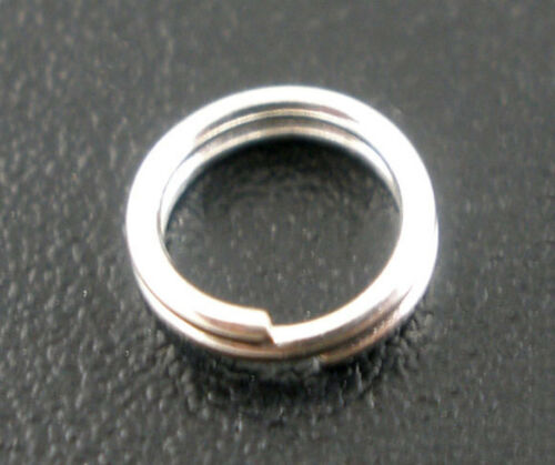 100 Pièces Spiralringe Conjonctif Anneaux 5 mm brèche Bagues anneaux clé hellsilbern