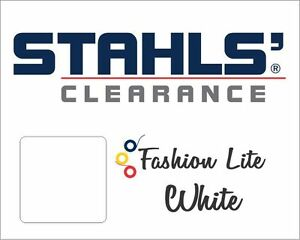 "15"" x 10 Yards - Stahls' Fashion-LITE Heat Transfer Vinyl HTV - White"