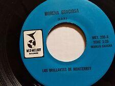 """LOS BRILLANTES de MONTERREY - Morena Graciosa 7"""" CUMIBA CHA CHA Ranchera"""
