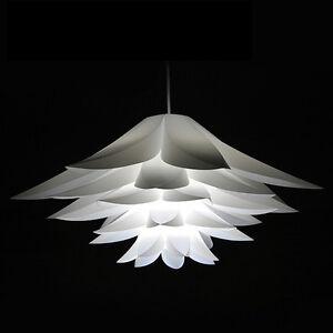 White Lotus Chandelier Pvc Modern Ceiling Lighting Shade Flower