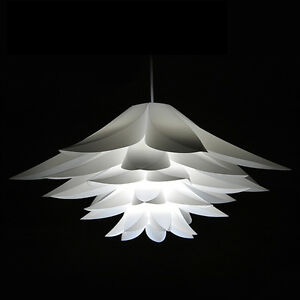White lotus chandelier pvc modern ceiling lighting shade flower image is loading white lotus chandelier pvc modern ceiling lighting shade mightylinksfo