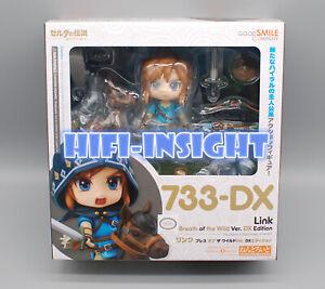 The Legend of Zelda 733-DX Nendoroid Link Zelda Figure Breath of the Wild Ver DX