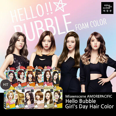 K-Beauty Easy Self Hair Dye Hello Bubble Girl's Day Hair Color Bubble Foam