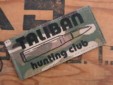 SNAKE PATCH - US - TALIBAN HUNTING CLUB - multicam / TAN serval airsoft lybie