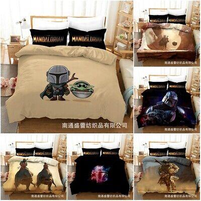 Star Wars The Mandalorian Bedding Set 3PCS Baby Yoda Kids Duvet Cover Pillowcase