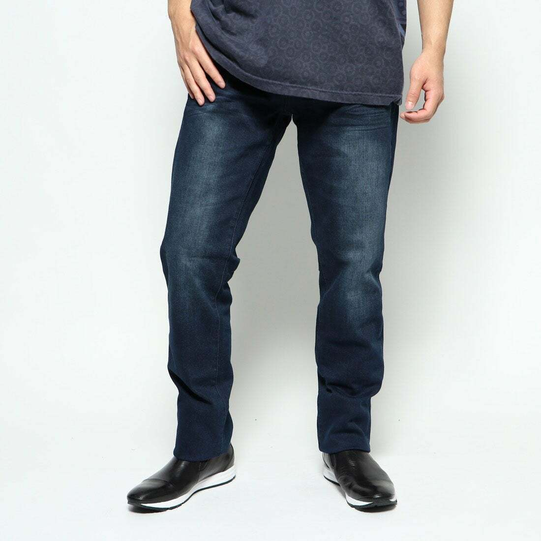 Desigual Denim Jon Rep Dunkelblau Herren Regular Fit Jeans Größe W32 L32