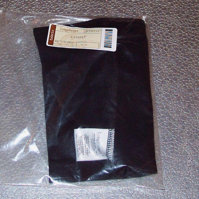 Longaberger Black VANITY Basket Liner ~ Brand New in Original Longaberger Bag!