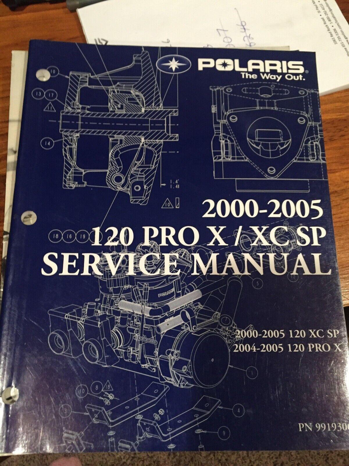 2000-05 Polaris 120Pro X XC SP Service Manual PN  9919306