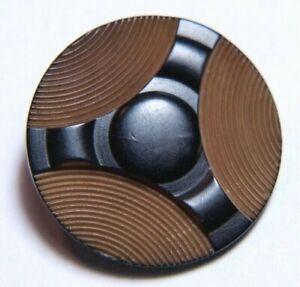 """Vintage Vegetable Ivory Button Carved & Pressed Pattern  7/8"""""""