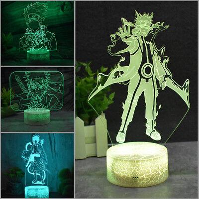 Naruto Uchiha Sasuke 3d Led Tischlampe Nachtlicht Leselampe Nachttischlampe So Effektiv Wie Eine Fee