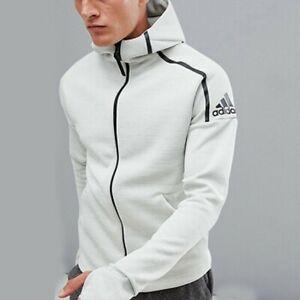 Détails sur Adidas Homme zne Sweat à Capuche Sweat shirt loose fit XXL (72 cm Pit pour Pit) ASH argent afficher le titre d'origine