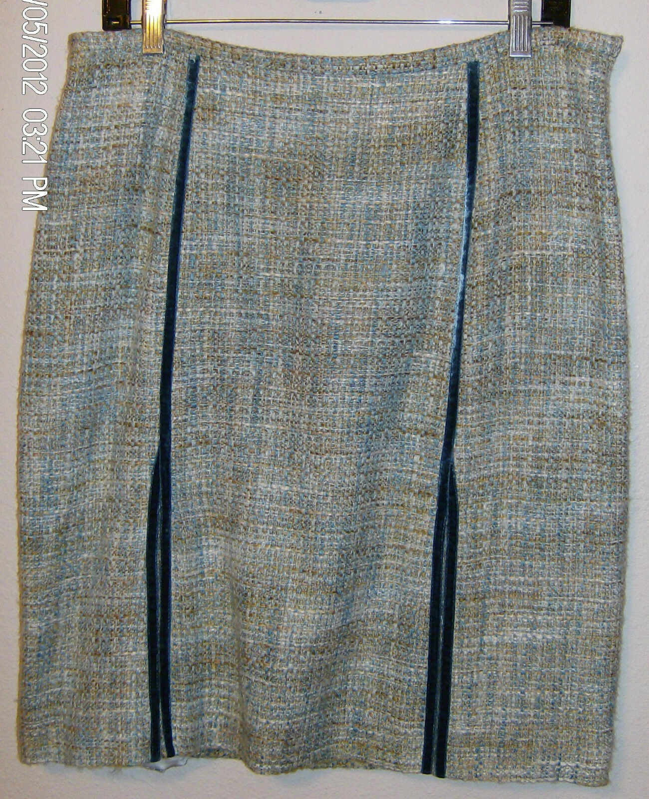 Etcetera  Skirt Size 10 New with Tags  Legacy Knee Length bluee Brown