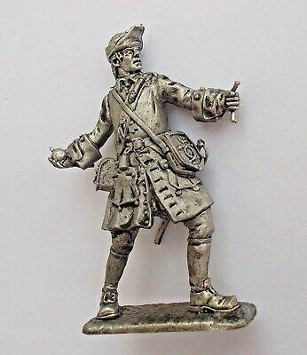 1//32 Swedish Field marshal Great Northern War Charles XII Tin Metal Soldier 54mm