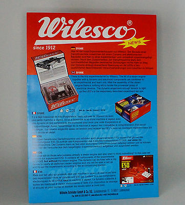 Steam Powered Wilesco 2 Page Catalogue 2012