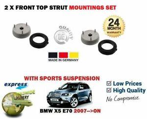 FOR BMW X5 E70 + XDRIVE 2007 >NEW 2 X FRONT TOP STRUT SHOCKER MOUNTINGS SET
