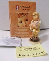 Goebel Hummel PIGTAILS #2052 Figurine TMK7 Girl w/Pig Mint MIB+COA