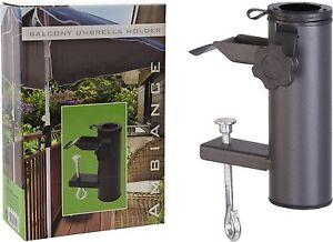 metall balkon sonnenschirm halter klemme schirmst nder. Black Bedroom Furniture Sets. Home Design Ideas