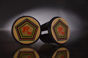 Bar End Caps endcaps vintage black gold NEW Tommasini Handlebar End Plugs