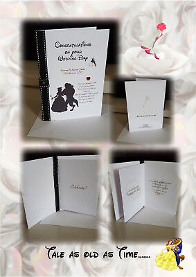 Personalised DisneyThemed Wedding Engagement Invites Cards Beauty The Beast