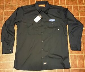 27c1bf6cc2 Image is loading NEW-CUSTOM-DICKIES-BLACK-EMBROIDERED-FORD-LOGO-MECHANIC-