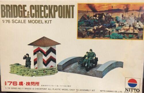 Nitto 1//76 Scale Plastic Model Kit Bridge And Checkpoint No 11