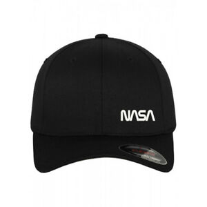 f41d21af7df Image is loading NASA-TEXT-Embroidered-Black-Flexfit-flex-fit-BASEBALL-