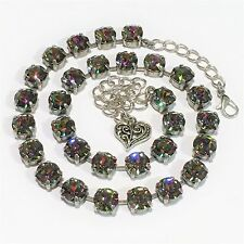 Crystal Cup Chain Necklace With Genuine Swarovski Crystal  Vitrail Medium