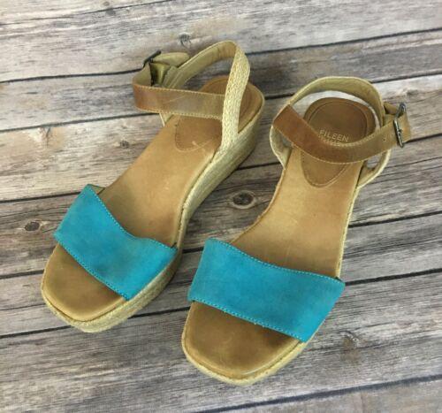 Eileen Fisher Espadrilles Wedge Sandals (Size: 7.5