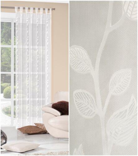 Maison de campagne Rideaux Transparent Rideaux Boucle écharpe œillets kräuselband 140x245cm