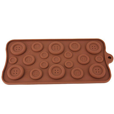 Silicone Button-shaped Chocolate Jelly Baking Cupcake Tray Muffin Mold DT530