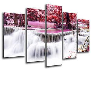 Cuadro Moderno Fotografico Cascada Relax Buda base madera,165 x 62 cm ref. 26247
