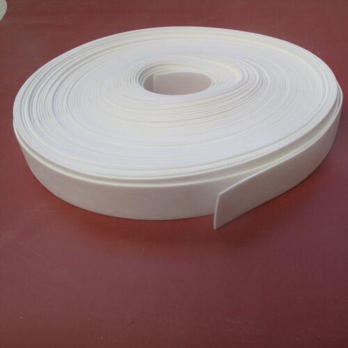Solides bandes de caoutchouc silicone 1.5 mmthk x 5mtrs longues, blanc 60 shore, FDA grade