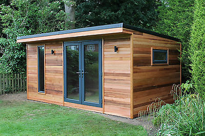 Log cabins collection on ebay for Garden office cabin