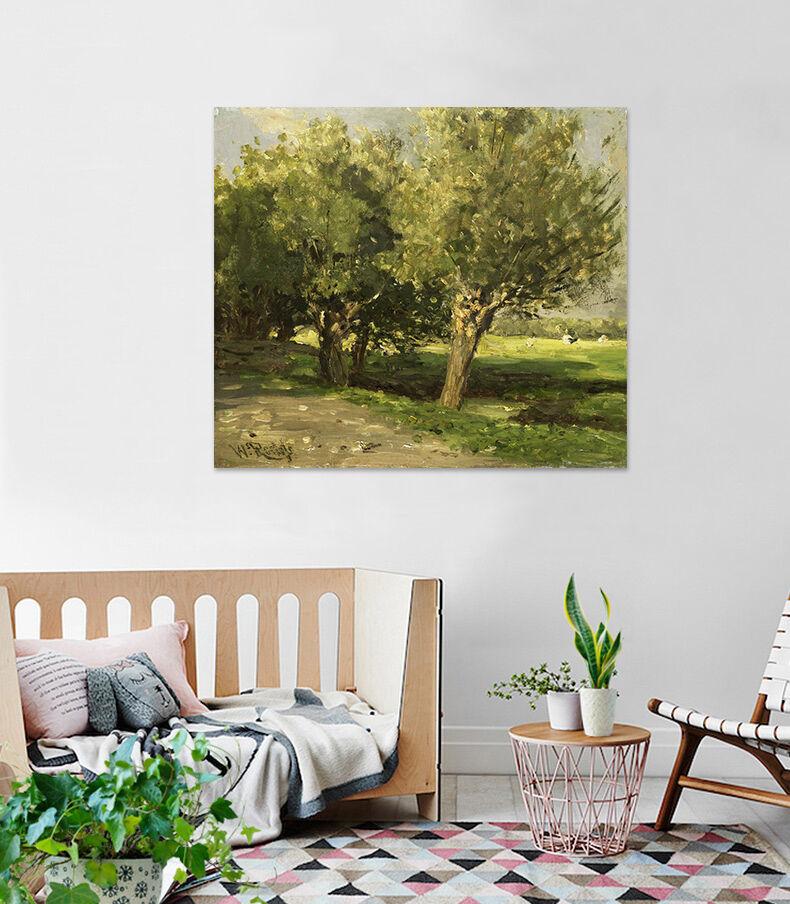 3D Grüne Bäume Landschaft  944 Fototapeten Wandbild BildTapete AJSTORE DE Lemon