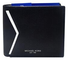 Michael Kors Bryant Billfold Black Leather Wallet 39F5MYTF1L New