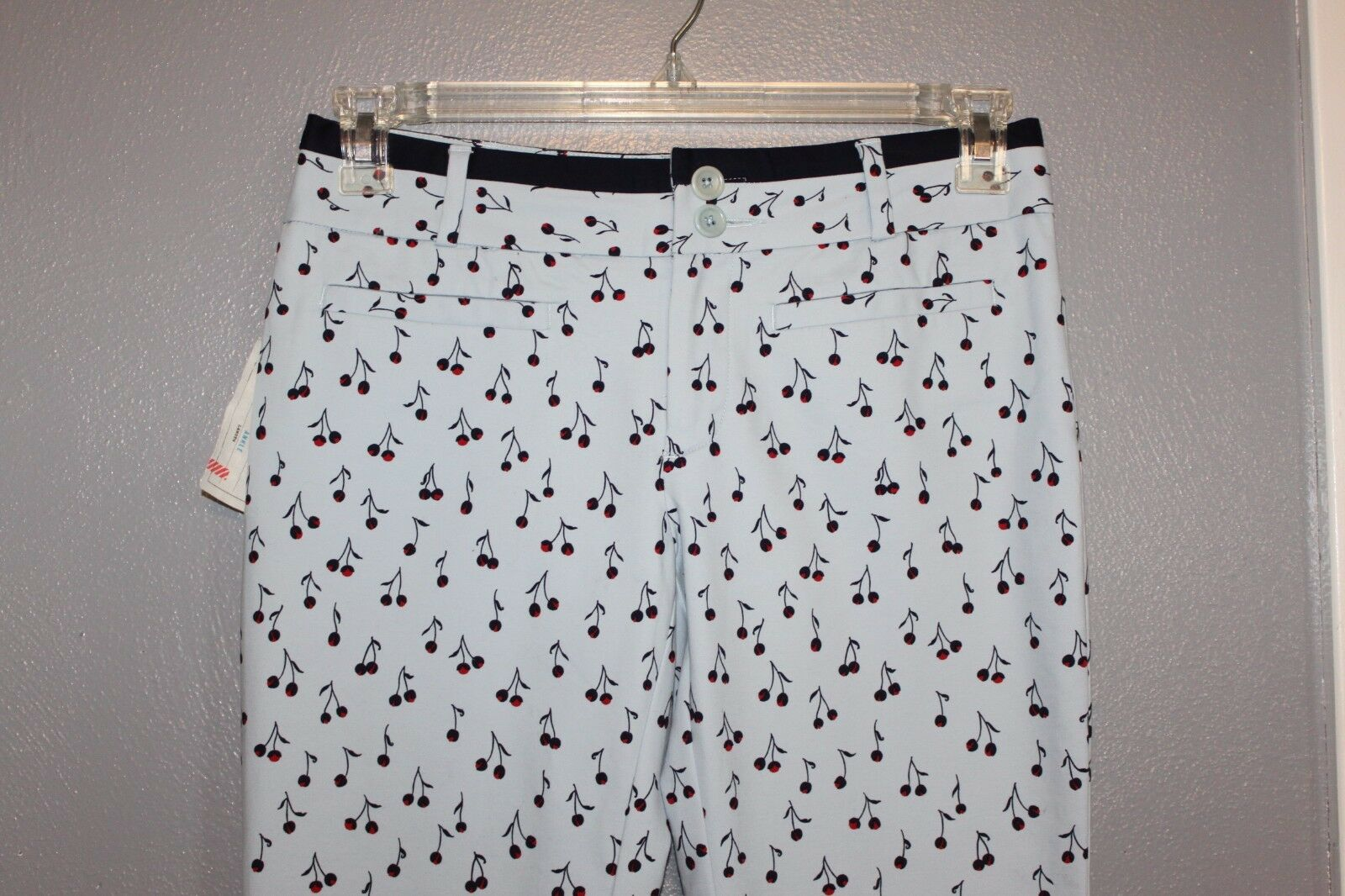 NWT Cartonnier Anthropologie Charlie Ankle Pants Cherry Cherries 4