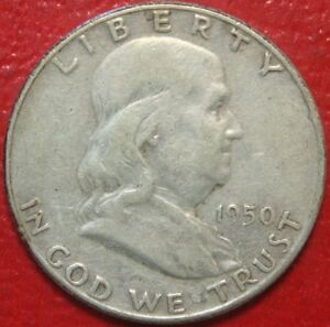 1950-Franklin-Half-Dollar-Circulated-90-Silver-US-Coin