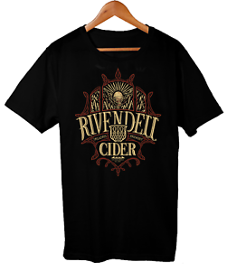 Rivendell Cider Lord Of The Rings T-Shirt Mens Parody Drinking T-Shirts