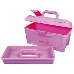 artbin twin top art box carry case plastic caddy storage rare pink ebay. Black Bedroom Furniture Sets. Home Design Ideas