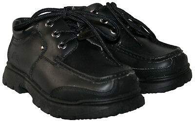 BOYS BLACK LACE UP GROUNDWORK SMART//CASUAL SCHOOL SHOE IN SIZE UK 2