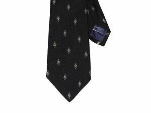 Ralph-Lauren-Purple-Label-Mens-Italy-Silk-7-Fold-Black-Diamond-Neck-Tie-New